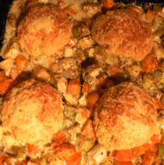 Clares wonderful warming winter vegetable cobbler